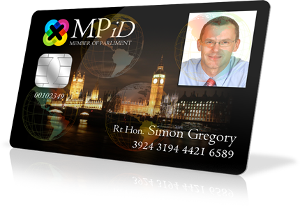 Holographic Laminated ID card